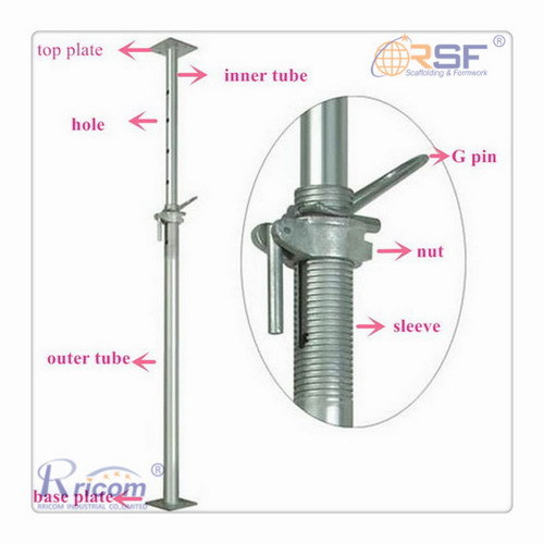 Galvainzed Scaffold Steel Acrow Shoring Props for Sale