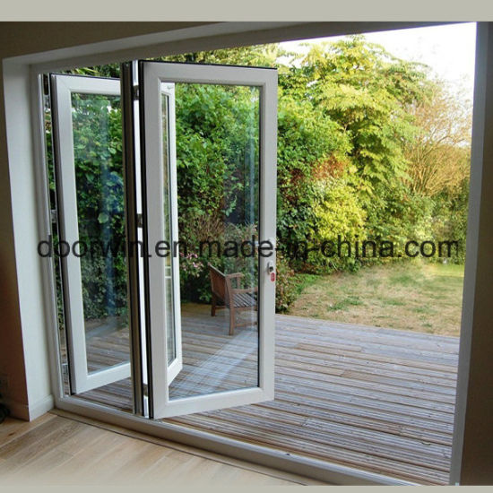 Powder Coating White Color Aluminum Sliding Folding Glass Door
