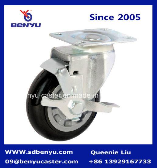 Side Braked Polyurethane Wheel Castor