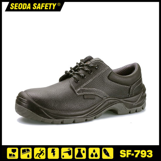 High Cut for Industrial with Construction Smooth Leather Safety Shoes pictures & photos