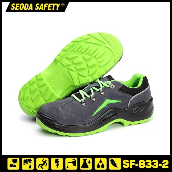 PU Sole Suede Leather Safety Work Shoes Footwear