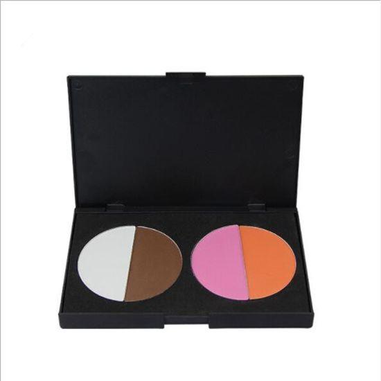 4 Color Blush Natural Soft Blusher Powder Palette Bronzer Highlighter Cheek  Contouring Make up Set Face Makeup Kit