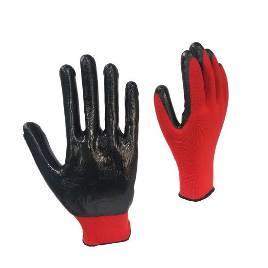 13G Nylon Shell Nitrile Coated Gloves