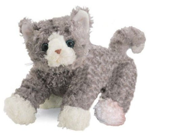 China Small 9 Inches Bootsie Plush Siamese Grey Cat Toy For Babies