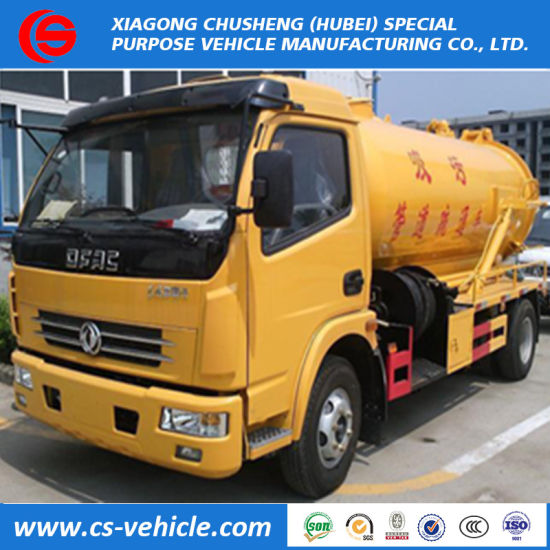 Cheap Price Dongfeng 4X2 8m3 Vacuum Sewage Suction Tanker Trucks