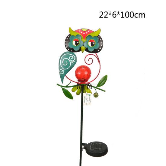 Owl Garden Solar Light Metal Stake For Garden Decoration