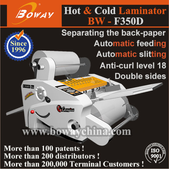350mm Automatic Hot Cold Roll Pouch Lamination Laminator Laminating Machine for A3 A4 Size Price