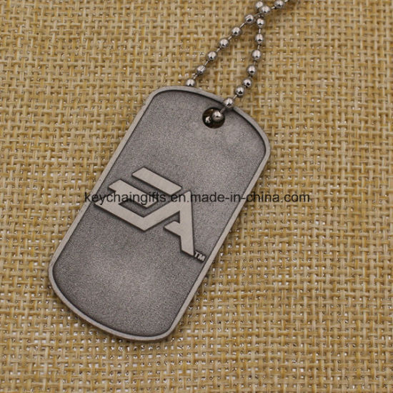 china wholesale cheap metal custom dog tags with chain china dog