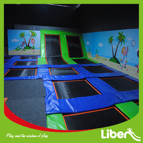 Liben Professional Child′s Indoor Trampoline with Basketball Hook pictures & photos
