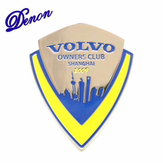 Hot Item Wholesale Custom High Quality Volvo Owner Club Badge