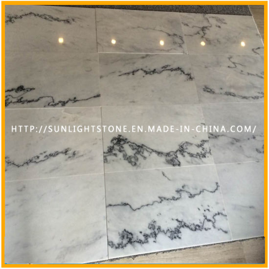 Natural China Cheap Polished White Marble Stone Flooring Tiles