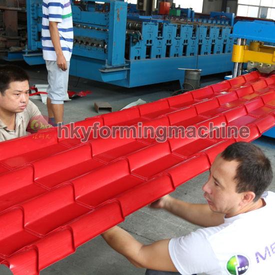Steel Tile Forming Machine Used for House Buildings pictures & photos