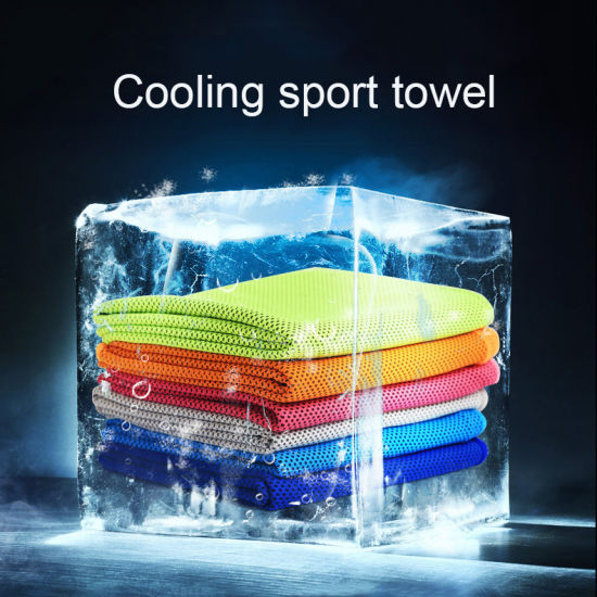 Cooling Feel Mositure Wicking Sport Towel with Custom Printing Logo