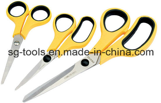 3Pc Scissor Set Household Cutting Kitchen Office Diy Stainless Steel Scissors