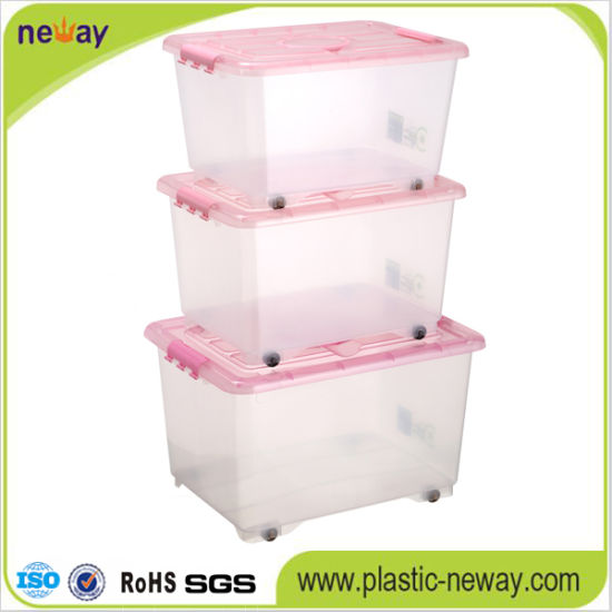 Large Transparent Plastic Storage Container with Lid pictures & photos