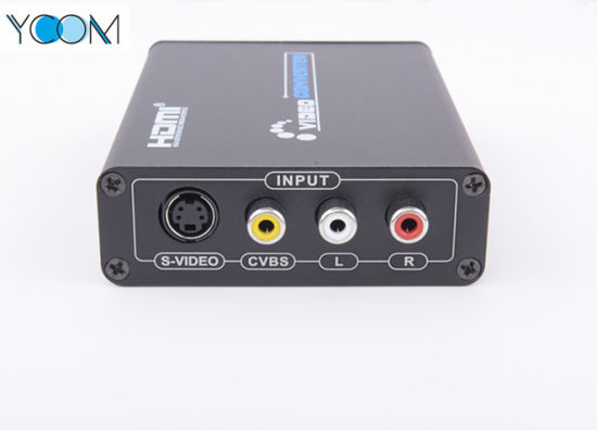 Metal AV (RCA) +HDMI to HDMI Converter