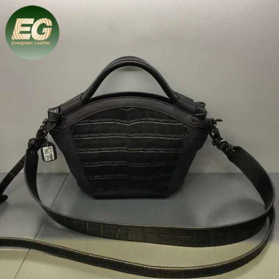 Ladies Fashion Crocodile Embellished Pattern Print Handbag Crossbody Bag Emg5477