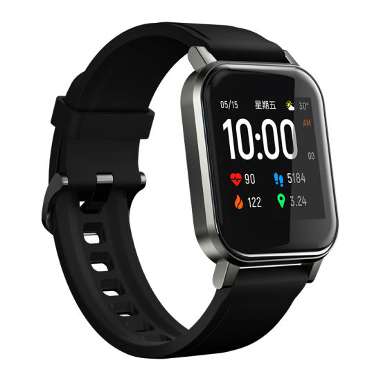 Haylou New Fashion Comfortable Haylou Ls02 Smart Watch, IP68 Waterproof, 12 Sport Modes, Call Reminder, Bluetooth 5.0 Smart Band
