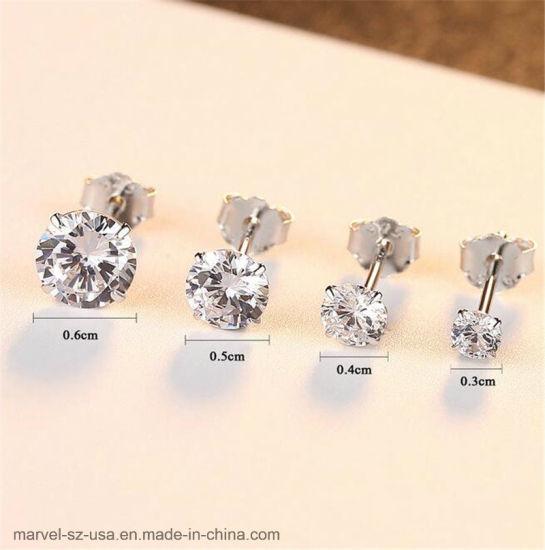 China Women Fashion Jewelry Earrings Zircon 925 Sterling