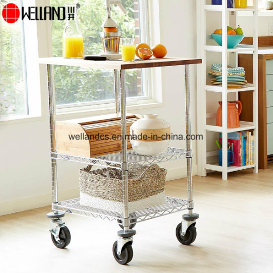 Open Metro Steel Commercial Industrial Chef's Service Cart Trolley with Locking Wheels