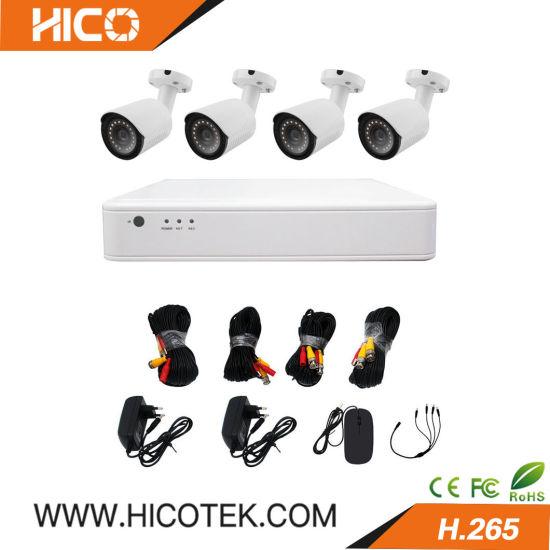 4CH 1080P Hybrid Ahd Bullet Home Security Cameras and DVR Kits CCTV Surveillance Alarm DVR System