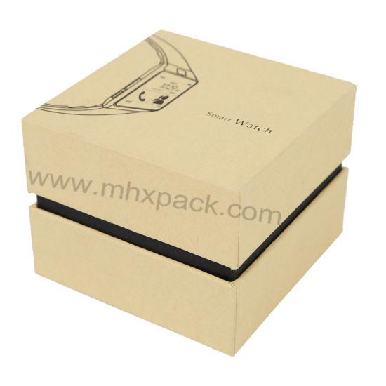 Kraft Paper Jewelry Packaging Watch Box with Black EVA Insert