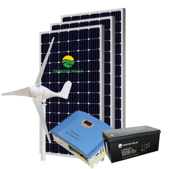 Yangtze 10kw 1000W Solar-Wind Solar panel System AC 220V
