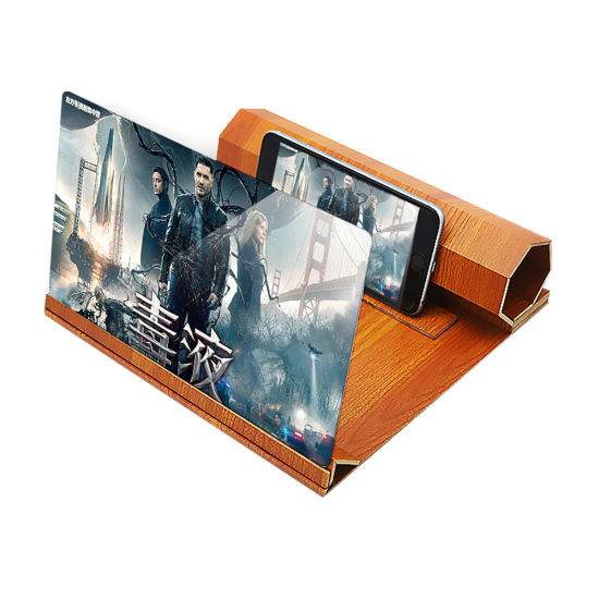 Portable Antique Wood Anti-Radiation Mobile Phone 3D Screen Magnifier Amplifier for iPhone Samsung Cellphone