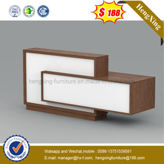 Mixed Color Lockable Melamine Wooden School Reception Desk pictures & photos