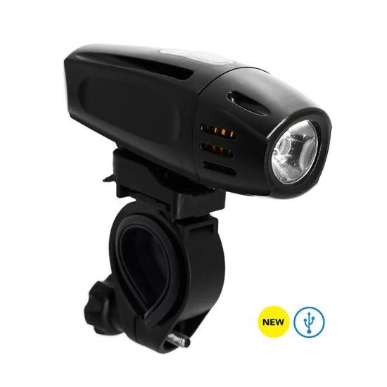 Bike Parts USB Rechargeable Bicycle LED Head Light (HLT-002)