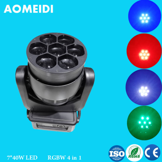 China LED Wash Moving Head Light Zoom 7PCS 40W RGBW pictures & photos