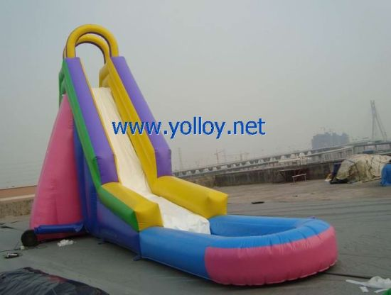 Large Wow Inflatable Water Slide with Pool for Commercial Use pictures & photos