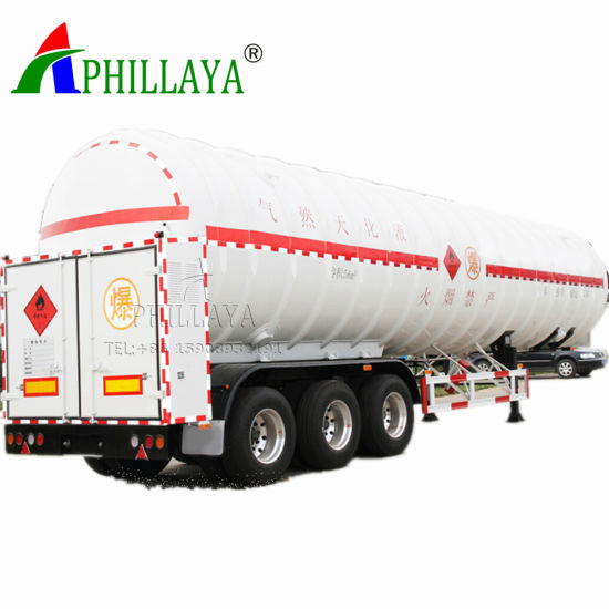 Gas Container Carrier Semi Trailer Tanker Truck Storage Tank