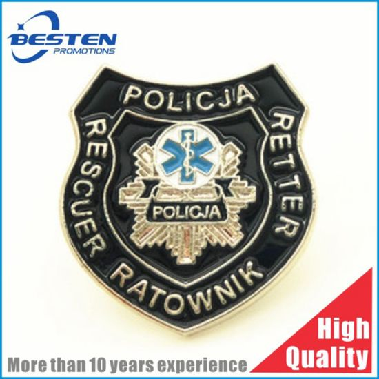 High Quality Iron Brass Zinc Alloy Anti Siliver Gold Nickle Soft Enamel Metal Badge