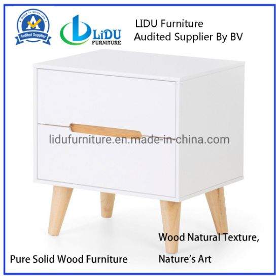 Superior Materials Multi Drawer Cabinet Wooden 3 Slide Drawer Wood Small White Corner Storage Cabinet with Drawers Home/ Nightstand