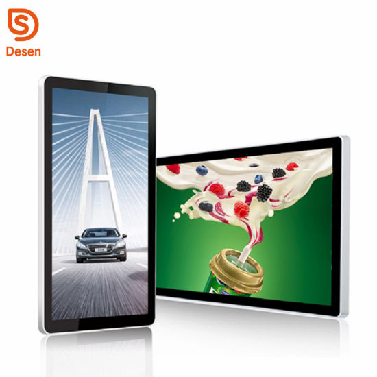 Advertising Player Supporting 1080P high-Definition Video Playback IPS Screen//Wall-mountable Home 12.5-inch Desktop Digital Photo Frame