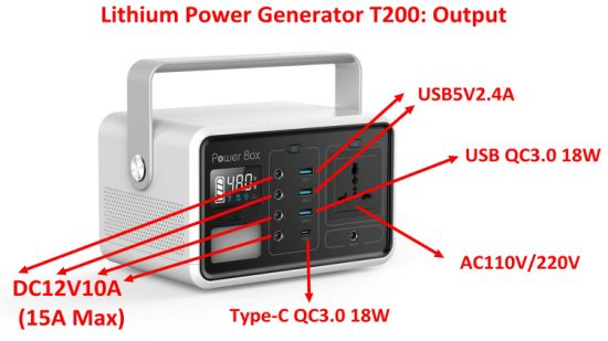 Portable Power Station 222wh Solar Generator Battery Pack with Inverter pictures & photos