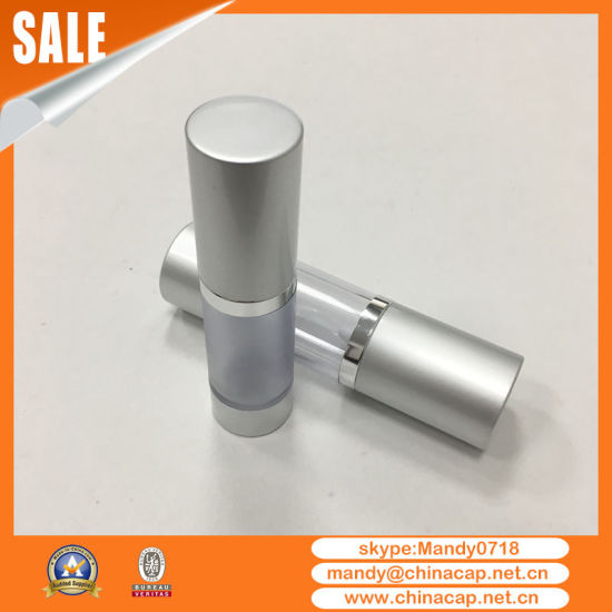 Supplier Cosmetic Alumininum Airless Bottle with White Pump Sprayer pictures & photos