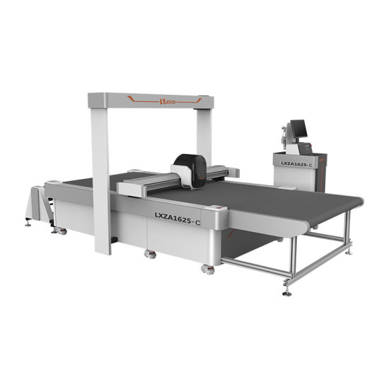 Wholesale CCD Graphics Computerized Automatic Kiss Cut CNC Straight Knife Cutting Machine for Advertising Car Sticker Carpet