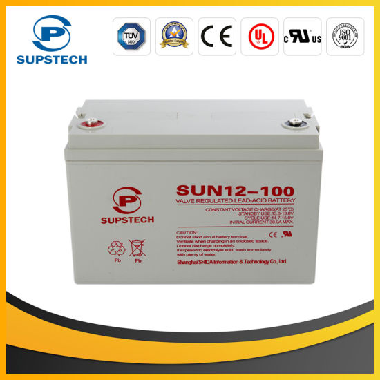 Maintenance Free Lead Acid Battery for UPS (12V 100ah) pictures & photos