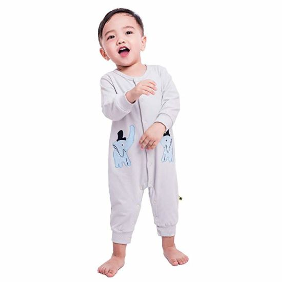 a84e0ee7a34 Unisex Baby Jumpsuit Cotton Onesies Baby Romper Long Sleeve Bodysuit  Elephant Print Children Clothes