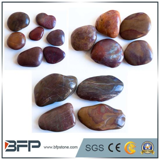 Highly Polished Red River Stone For Landscaping And Paving Pictures Photos