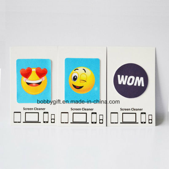 Promotional Cartoon Microfiber Silicone Mobile Phone Accessories Screen Cleaner