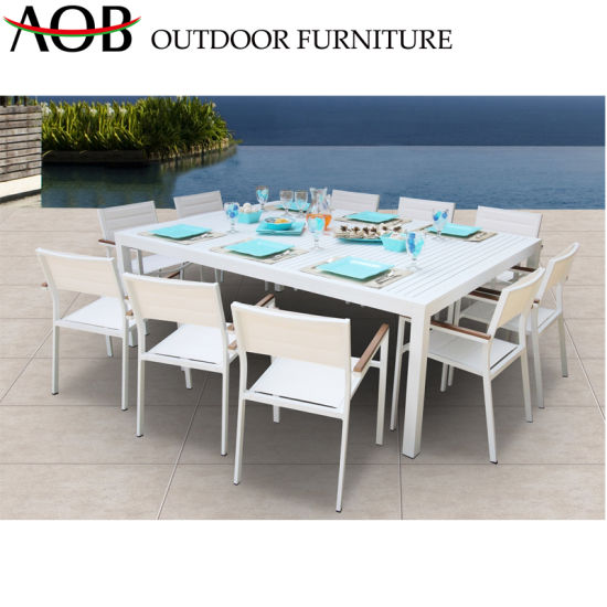 Aobei Outdoor Wholesale Aluminum Garden Patio Home Hotel Dining Chair and Table Furniture