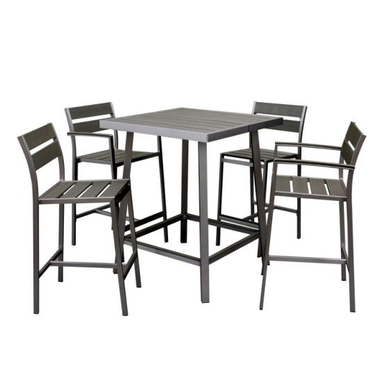 Leisure Modern Aluminum Table Wholesale Outdoor Polywood Bar Chair and Table Set Patio Garden Furniture