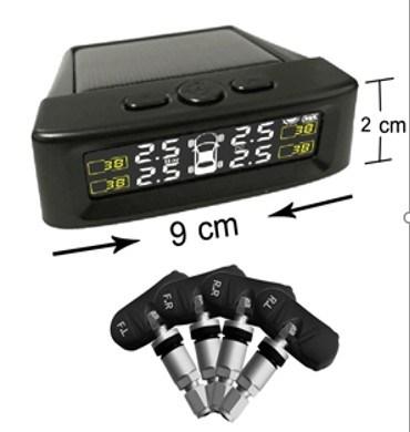 Solar Power TPMS Digital Tire Pressure Gauge with Internal Sensors
