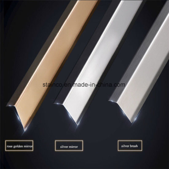 China 316 Trim Moulding Stainless Steel U Channel Marble Profile