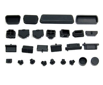 10X Black Rubber A Type Female USB Anti Dust Protector Plugs Stopper Cover BE