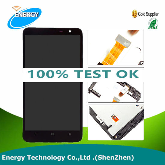 Wholesale Mobile Phone Parts for Nokia Lumia 1320 LCD Touch Screen with Frame, Replacement for Lumia 1320 LCD Touch Digitizer