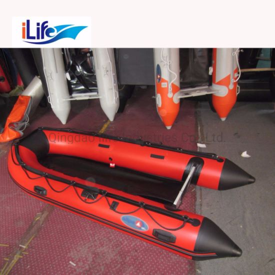 Ilife 8 6ft Rescue Pvc Hypalon Inflatable Rescue Fishing Rubber Boat With Aluminum Drop Stitch Air Plywood Floor For Sale
